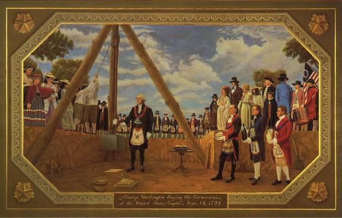 George Washington Cornerstone Laying